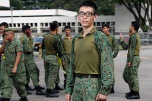 Third Sergeant Zheng Zuda in the new faster-drying hybrid uniform.