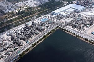 An aerial view of the butyl and resin plants on Jurong Island. The new plants were built under a multibillion-dollar expansion project at the Jurong Island site.