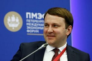 Russian Economy Minister Maxim Oreshkin attends a session of the St. Petersburg International Economic Forum in Russia, on May 24, 2018.