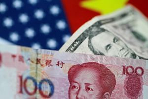 China's yuan fell as much as 0.61 per cent to its lowest against the US dollar in more than 51/2 months, on news of a reported US government plan to curb Chinese investment in US firms involved in