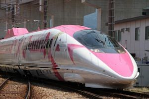 """The special """"Hello Kitty"""" bullet train will run for three months between the western cities of Osaka and Fukuoka from June 30, 2018."""