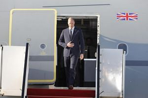 Britain's Prince William arrives at Ben Gurion airport, near Tel Aviv, Israel, on June 25, 2018. The Duke of Cambridge is on his first official three -days visit to Israel and the Palestinian Territories.