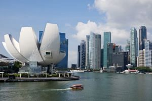 File photo showing the skyline of Singapore's central business district. According to a study by HR consulting firm, Mercer, Singapore is now the fourth most expensive city for expatriates.
