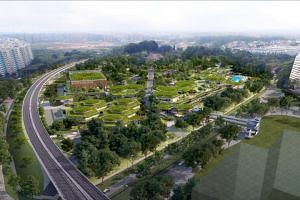 Bukit Canberra will feature facilities like swimming pools and a hawker centre.