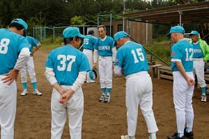 The Shimohama Club baseball team is made up of 33 men in their 70s and 80s.