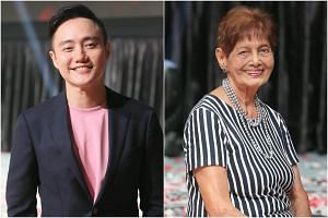 This year's National Day Parade creative director Boo Junfeng and one of the main characters in the integrated film, Madam Mary Klass, 83.
