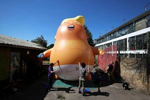 The 6m orange balloon will fly near parliament at a height of 30m.