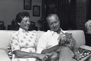 Mr Wee Kim Wee and his wife in 1985.