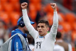 Lucas Torreira played all five of Uruguay's World Cup matches in Russia.
