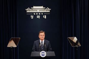 South Korean President Moon Jae-in is in Singapore for a three-day visit at the invitation of President Halimah Yacob.