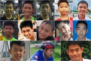 Top row from left: Chanin Vibulrungruang, 11; Mongkol Booneiam, 12 or 13; Somepong Jaiwong, 13; Panumas Sangdee, 13; Duganpet Promtep, 13; Middle row from left: Ekarat Wongsukchan, 14; Adul Sam-on, 14; Nattawut Takamrong, 14; Pipat Pho, 15; Prajak Su
