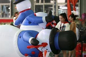 Workers in a Chinese factory for inflated toys, which is mainly for overseas markets. The Trump administration threatened 10 per cent tariffs on another US$200 billion of Chinese goods on Tuesday.