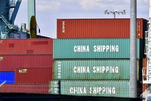 Containers, some from China Shipping, at the Port of Long Beach in California, on July 6, 2018. China has said that the US' actions are not supported by the international community.