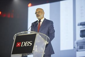 DBS chief executive Piyush Gupta delivered the opening remarks at the DBS Asian Insights Conference on July 13, 2018.
