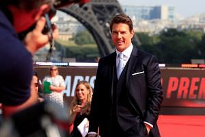 Tom Cruise arriving on the red carpet for the premiere of Mission: Impossible - Fallout, in Paris on July 12, 2018.