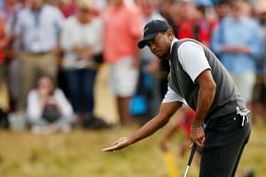 Tiger Woods of the US during the third round.