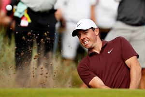 Northern Ireland's Rory McIlroy in action during the third round.