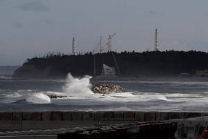 Waves seen in front of the tsunami-crippled Fukushima Daiichi nuclear power plant in Namie town, Fukushima prefecture, Japan, on May 19, 2018.