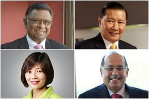(Clockwise from top left) The committee will be headed by former chief district judge and current member of the Public Service Commission Richard Magnus. The other members are executive chairman of cyber security solutions firm Quann World, Mr Lee Fo