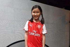 Ten-year-old Chae Min has been chosen as one of three children to escort the players of European giants Arsenal and Paris Saint-Germain out onto the National Stadium pitch before the kick-off on July 28, 2018.