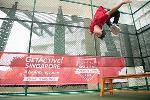 Parkour is one of the new activities offered at the upcoming GetActive! Singapore.