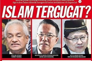 A headline in daily Sinar Harian earlier this month read: Islam under threat? Its sub-head said: Many quarters are worried about Islam's future when three non-Muslims are appointed to lead legal bodies in the country. They are (from far left) the Att