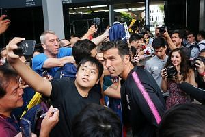 New PSG signing Gianluigi Buffon is one of few recognisable stars in the squad here for the 2018 International Champions Cup. The goalkeeper, who won the 2006 World Cup with Italy, delighted fans by posing for pictures yesterday at the JW Marriott Ho