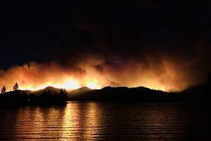 A photo of the Carr Fire posted to social media.