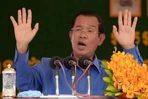 In typically bombastic comments, Mr Hun Sen vowed victory and took a swipe at his opponents.