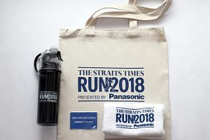 Those who sign up for the Sept 23 ST Run at a booth located outside the National Orchid Garden will get exclusive ST Run 2018 premiums - a cotton tote bag, a towel and a special water bottle with a misting feature.