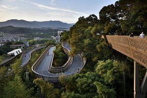 """The China Fuzhou Jin Niu Shan Trans-Urban Connector, or """"Fudao"""", winds 19km through the capital of Fujian province in southeastern China."""