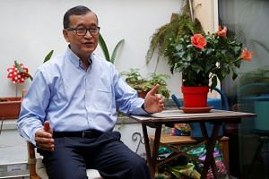 Cambodia National Rescue Party co-founder Sam Rainsy lives in self-exile in Paris to avoid a slew of convictions he contends are politically motivated.