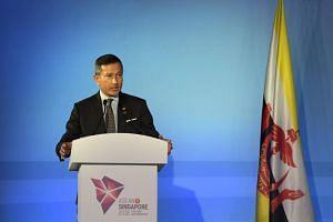 Foreign Minister Vivian Balakrishnan speaking at the opening ceremony of the 51st Asean Foreign Ministers Meeting held at the Singapore Expo, on Aug 2, 2018.