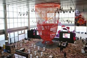 Anchored to both the ground and ceiling, Chandelier, as the new structure is called, is made of about 10km of rope, supported by about 15 tonnes of steel.
