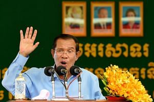 Cambodian Premier Hun Sen's Cambodian People's Party claimed it won all 125 parliamentary seats in the deeply flawed July 29, 2018, poll.