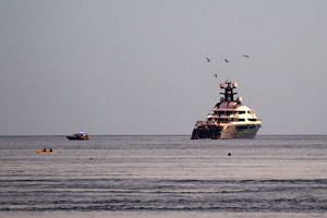 The luxury yacht Equanimity, which was seen near Bali, Indonesia, in February 2018.