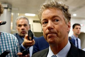 Rand Paul (above) said he had travelled to Moscow to encourage diplomacy.
