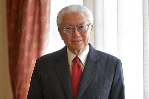 Dr Tony Tan at the Istana in August last year. He is the ninth Singaporean in history to receive the Order of Temasek (First Class).