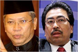 Umno secretary-general Annuar Musa (left) and Datuk Seri Johari Abdul Ghani both said the party would need to move foward without former president Najib Razak.