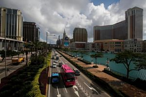 The Cotai Strip of gaming resorts in Macau on May 15, 2018.