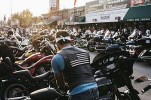 A biker rally in Sturgis on Aug 4, 2018.