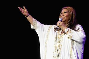 US singer Aretha Franklin performs at Radio City Music Hall in New York, on Feb 17, 2012.
