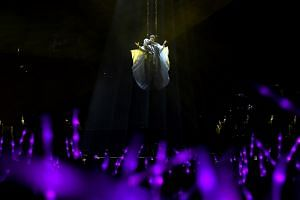 JJ Lin made a dramatic entrance for his JJ Lin Sanctuary World Tour at the Singapore Indoor Stadium, on Aug 15, 2018.
