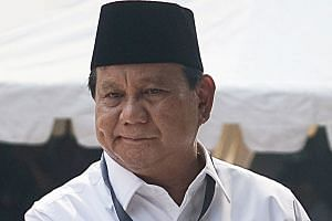 Mr Prabowo Subianto has 3.17 million followers on his Twitter account, far behind Mr Joko Widodo.