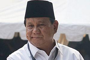 Mr Prabowo Subianto has 3.17 million followers on his Twitter account, far behind Mr Joko Widodo.