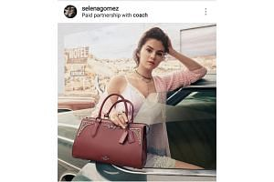 """Famous celebrities like singer Selena Gomez can earn up to US$1 million a post. Their posts are often tagged """"paid partnership with"""",""""#sponsored"""" or """"#ad"""" to indicate that the stars have been paid by the brands in question."""