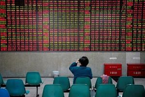 China's benchmark Shanghai Composite was off by 1.17 per cent after another day of volatile trading driven by Turkey.