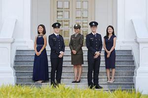 President's Scholarship recipients (from left) Penny Shi Peng Yi Penny, Stefan Liew Jing Rui, Sharmaine Koh Mingli, Alden Tan Ming Yang and Tan Xin Hwee.