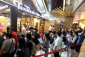 Taiwanese chain TenRen's Tea opened at Chinatown Point last month to a queue of 200 people. New openings include TenRen's Tea, which says its fruit tea (above) is made with fresh and not canned fruit, while TP Tea (below) sent staff to Taiwan to lear