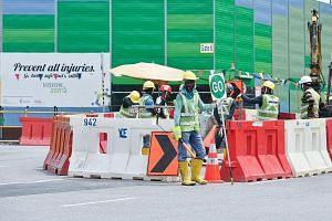 The number of noise-induced deafness cases in the workplace in the first half of this year fell to 102 from 196 in the same period last year, according to the Manpower Ministry's preliminary figures on workplace safety, released yesterday.